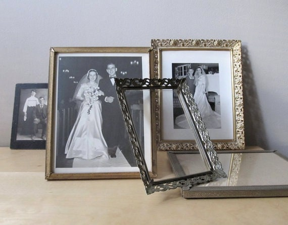 instant collection 8 by 10 vintage metal photo frames, wedding portrait display