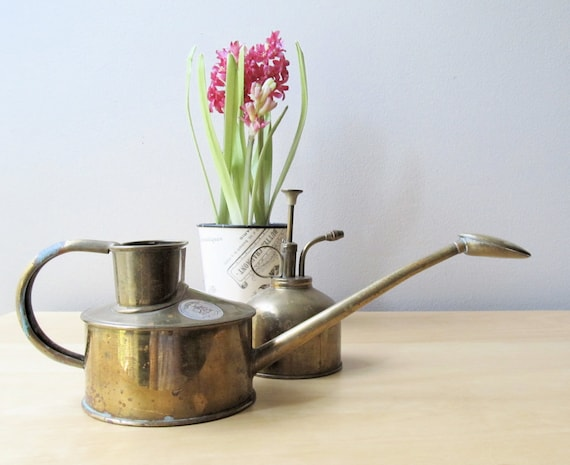 english brass watering can, brass plant mister, haws centenary watering can, indoor gardening