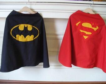 Reversible Superman - Batman Cape