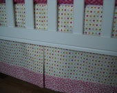 Add a Bottom Band to Your Custom Made Crib Skirt -  Designer Fabrics - by Cottage Belles on Etsy