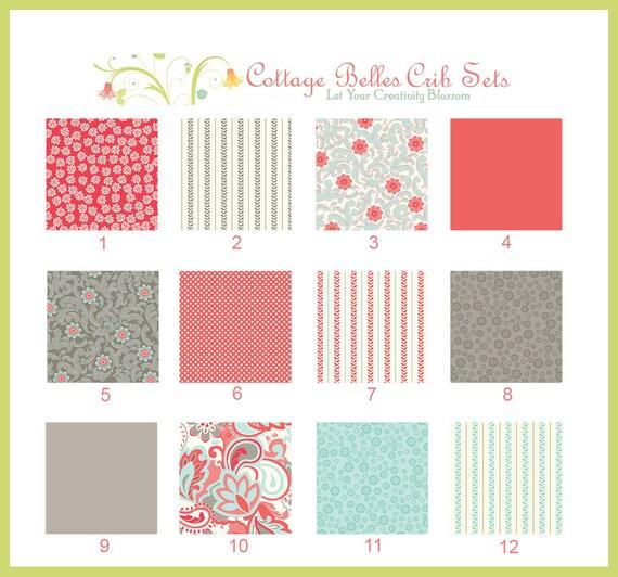 Custom Baby Bedding Crib Set - Verona 1 - Design Your Own, You Choose the Fabrics