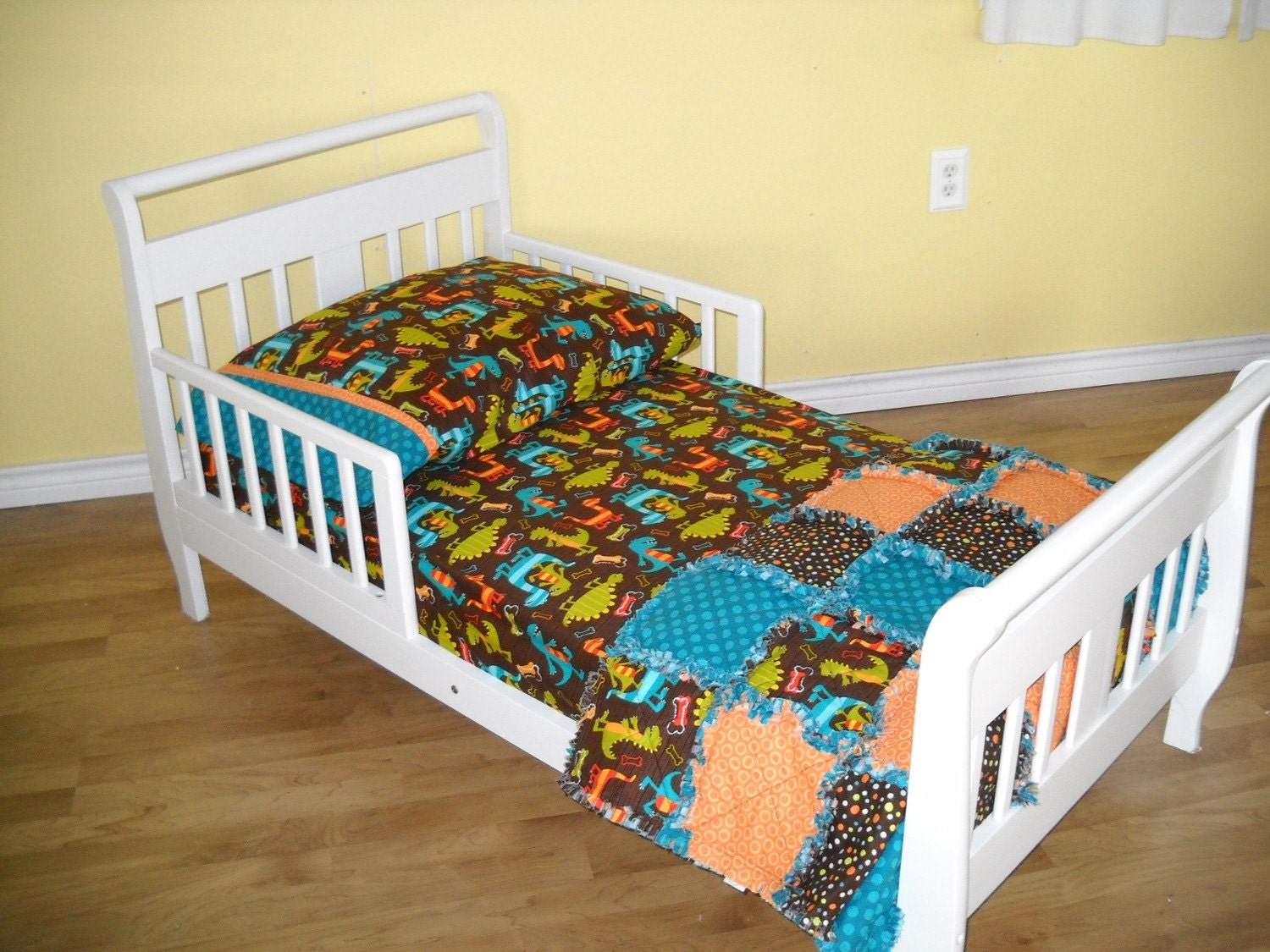Dino Dudes And Dots Toddler Boy Dinosaur Bedding Set Rag