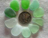 Top Drilled Found Frosty Beach Sea Glass Pendant Size Pieces Flawless