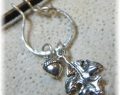 Delicate Sterling Silver Organic Vine Charm Holder for Your Own Charms - Unique Handmade to Order - You Choose the Finish