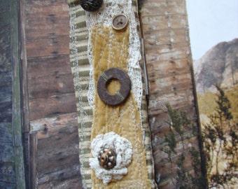 """Urban cowgirl """"Birch"""" rustic textile cuff -  by simplyworn"""