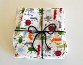 bug baby blanket and 1 burp cloth set