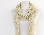 Crochet  Scarf. Holiday Fashion. Winter Scarves