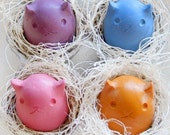 Kitty Egg Crayons- 4 Colors- Upcycled