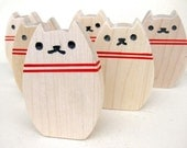 Kitty Bowling Toy Set - Natural Wood