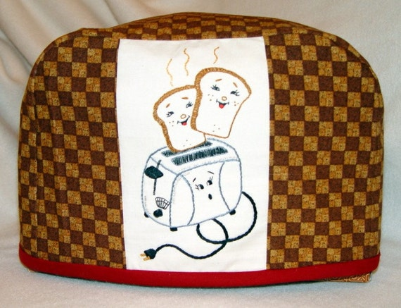 2 slice toaster cover hand embroidered with vintage by needlenme. Black Bedroom Furniture Sets. Home Design Ideas