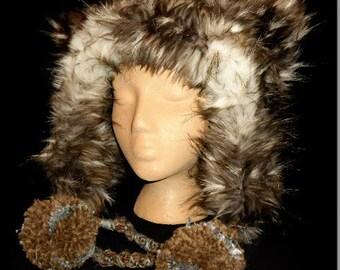 Fox In The Box Plush Fur Hat