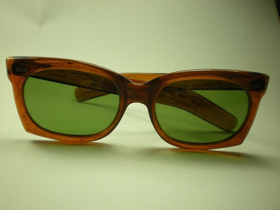 Vintage 1960s Sunglasses Cool Ray Polaroid 130 Tortoise Shell Plastic