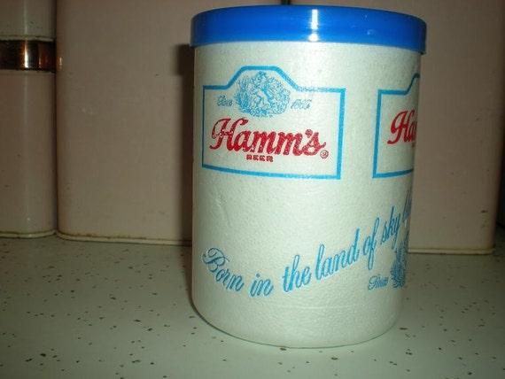Styrofoam Beer Can Cooler ~ Vintage s hamms beer styrofoam can cooler fathers