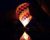Hot air balloon photograph - Balluminaria  No. 5 - 5 x 7 fine art photography