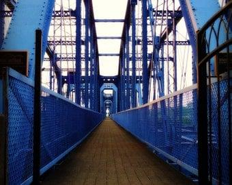 Cincinnati Photography - Purple People Bridge - 11 x 14 - fine art color photograph