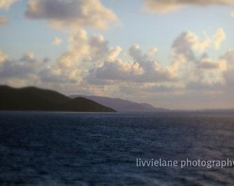 Ocean photograph - Just a Dream - 8 x 12 fine art print -  dark blues and pastels