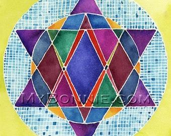 Jewish Greeting Cards STAR of DAVID, SHALOM Peace - 6 Original Designs by Former Sunrise American Greetings Artist Bonnie Gordon-Lucas