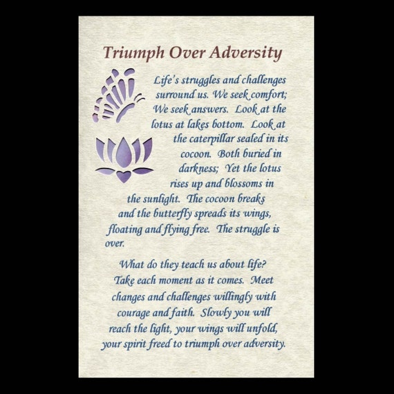 triumph through adversity essay College essays: my triumph over adversity (istockcom) october 10, 2009  this is, all in all, a good move the old essay had become a cliche now .