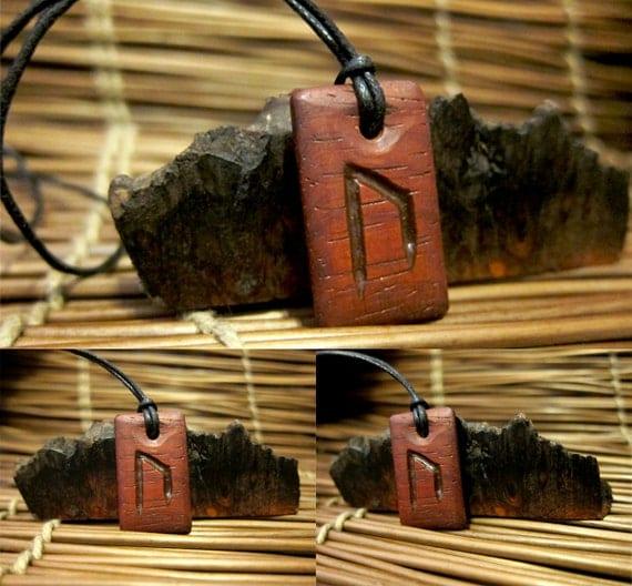Bloodwood Uruz Rune Necklace