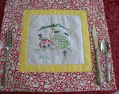 Vintage Embroderied Placemats