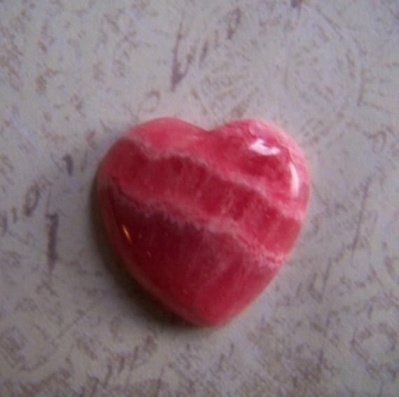 Rhodochrosite Heart Cabochon - Heart Cab - Rhodochrosite Pink Red Stone - gemstone - Rhodochrosite Cabochon - Rhodochrosite Cab - heart pink