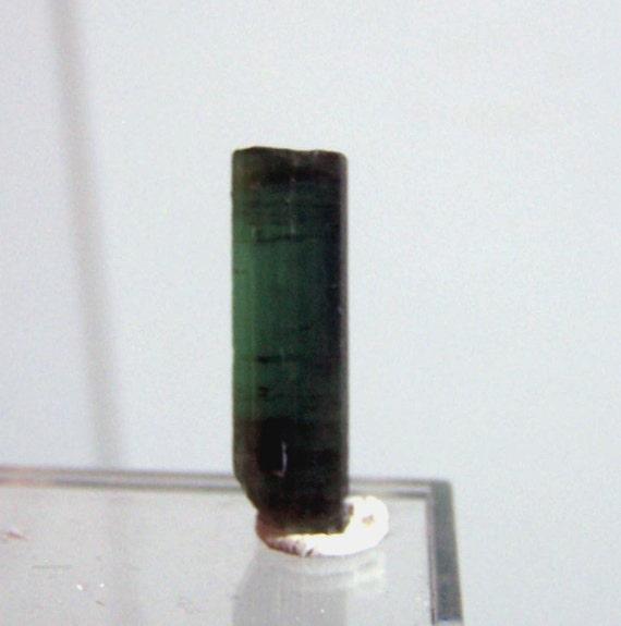 Tourmaline specimen Crystal - Green blue Tourmaline- terminated point - wire wrap jewelry - coyoterainbow - bicolor bi color tourmaline