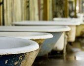 Rubba Dub Tub - Fine Art Photograph - reclaimed bathtubs after a rainstorm in New Orleans - 11x17