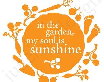 PRINTABLE Garden Soul PDF 8x8 Four colors