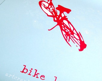 Bike Love Poster 19 x 25 inches Limited Edition