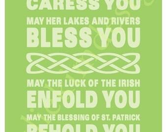 PRINTABLE Irish Blessing PDF 8 x 10