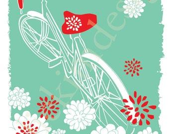 PRINTABLE Bike Mum Print  8 X 10
