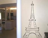 Wall Decal Eiffel Tower 60 inches Tall - Wall Art sticker