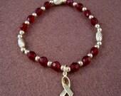 Multiple Myeloma Awareness Bracelet - Swarovski Austrian Crystals and 14kt Gold Beads