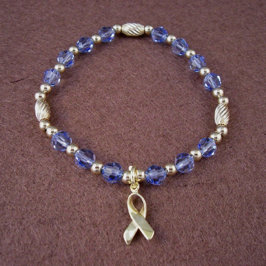 prostate cancer awareness bracelet swarovski austrian