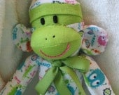Ooga Booga Sock Monkey Doll.  Super Soft. Limited Edition by auntyanndesigns.