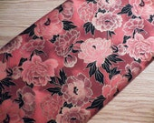 Fabric- Quilters Cotton - Red Floral Print by Kona Cotton - 1 Yard Cut