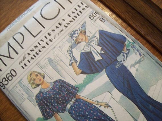 Vintage Simplicity Misses Dress Pattern 60th Anniversary Pattern Sz 14 to 20  UNCUT
