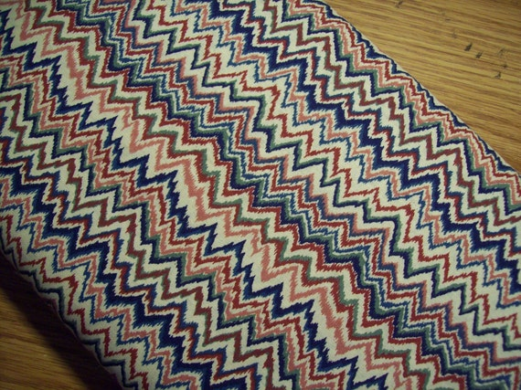 Custom Order for Jo P. Fabric -Cotton Print Multi-colored Zig Zag Design-  4 yard Cut