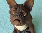 French Bulldog Ceramic Sculpture