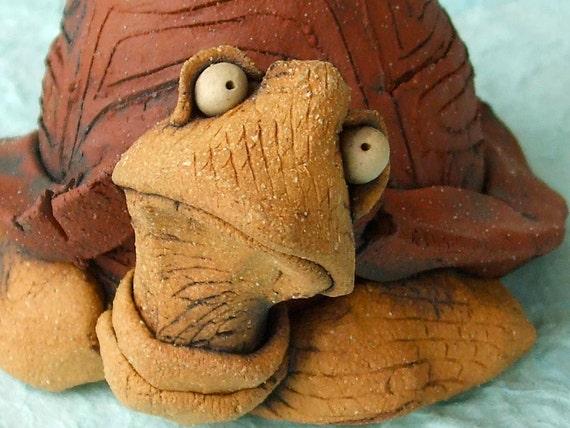 Turtle Sculpture Ceramic Container