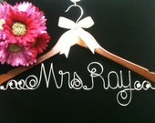 Rush Order JUMBO letters Personalized wedding dress hanger  Bride  Pearls and Ribbon included RUSH ORDER