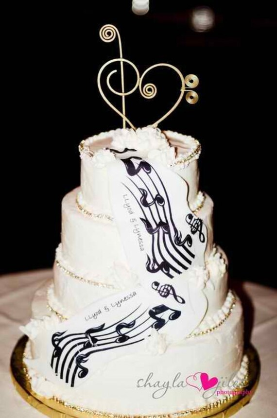 Musical Decoration For Cake Topper Decoration Treble By AllegroArt