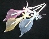 SOAP...Set of three 7 inch Calla Lily Soaps On A Stick- You choose colors and scents