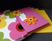 Set of five handmade notecards in matching box