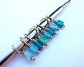 Knitting Stitch Markers Perfect for Lace and Socks - Set of 8 Aqua Dreams Mix