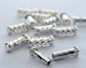 Twisted Tube Sterling Silver Clasp 2 row strands