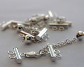 Sterling Silver Clasp with extension / chain