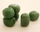 Green Aventurine Nuggets Bead Strand- free shipping
