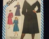 Vintage Simplicity 6213 Ladies Dress Sewing Pattern SZ 16 Uncut