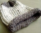AVALANCHE adult wool blend chunky beanie hat